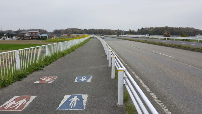 熊谷付近のサイクリングロード