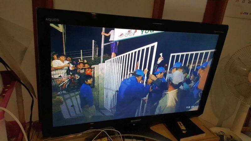 宮古島トライアスロンのゲート封鎖