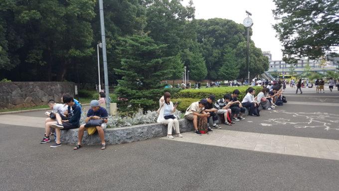 代々木公園、原宿門のポケモンスポット