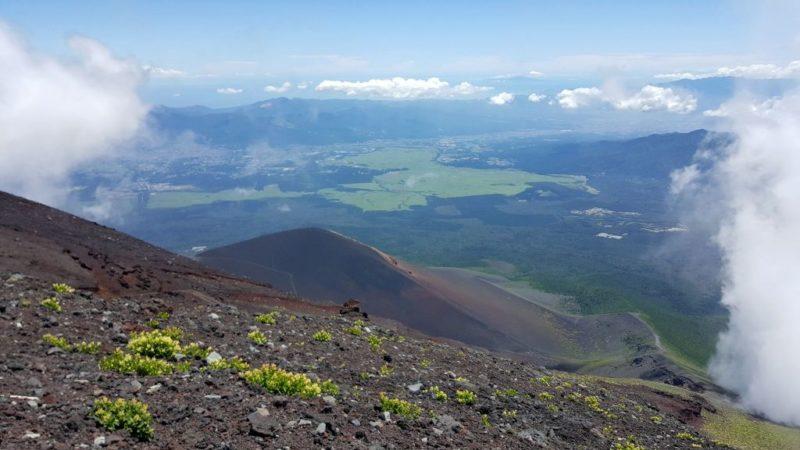 富士宮ルートの眺望