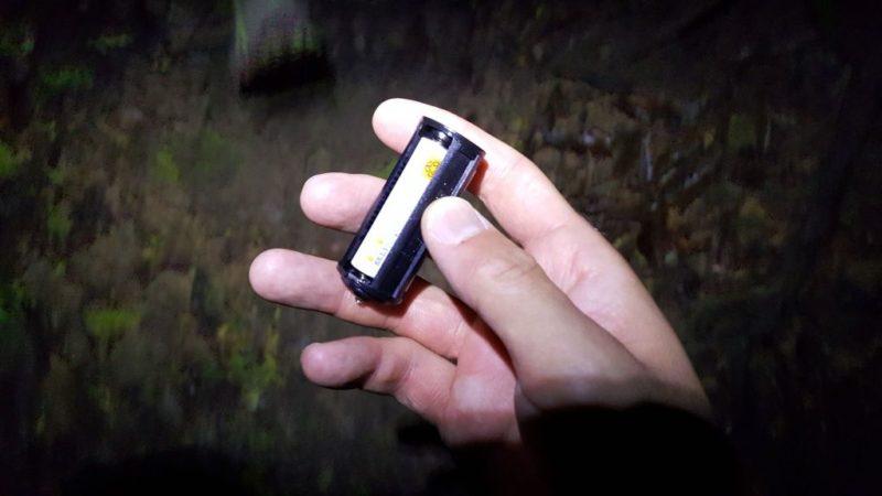 ライトの電池交換