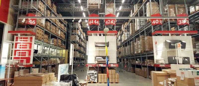 イケアの倉庫スペース