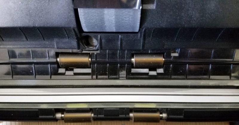 ScanSnap S1500のローラー部分