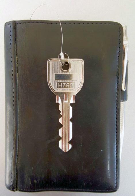 手帳と鍵の合体
