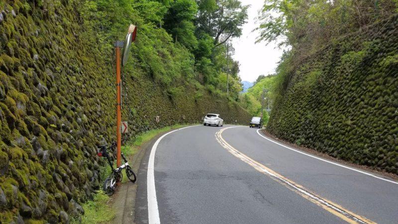 二ツ塚峠の頂上部(Dahon K3)