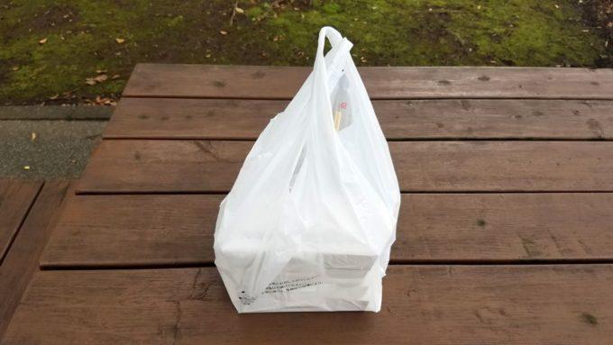 バーミヤンのテイクアウト用ビニール袋