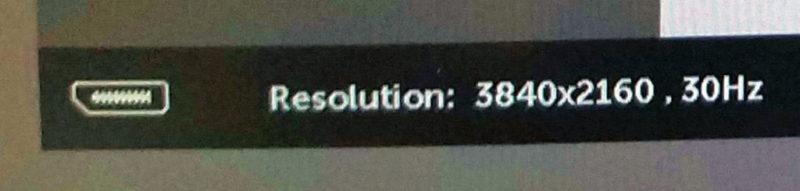4Kモニターで30Hz表示