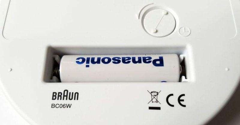 BRAUN BC06の電池部分