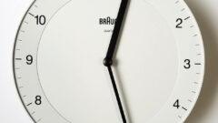 BRAUN(ブラウン)の壁掛け時計BC06、ホワイト版レビュー