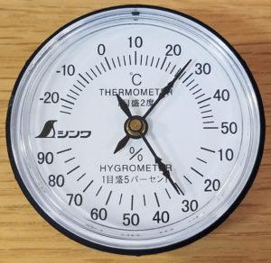 シンワの温湿度計