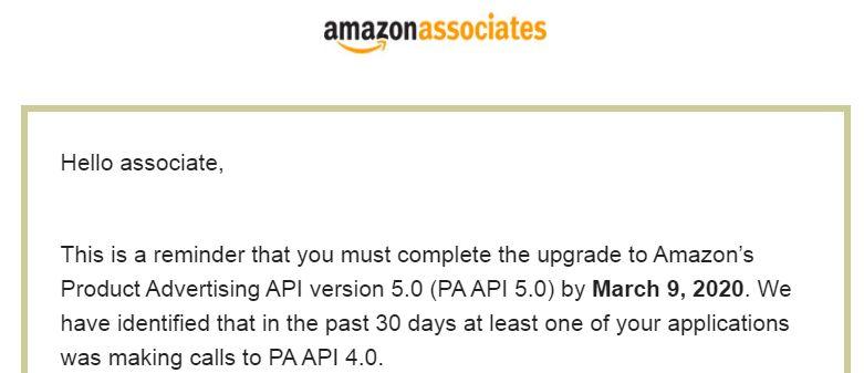 Amazonからの英語メール