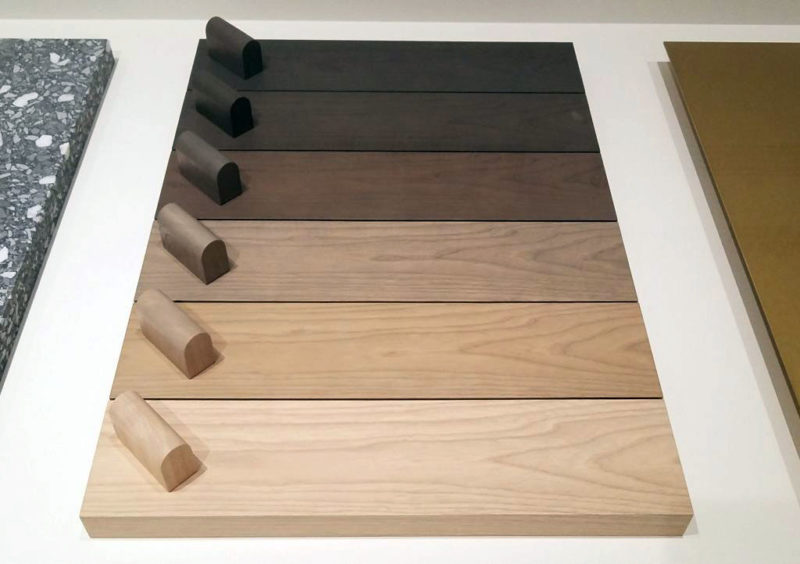 床材見本のグラデーション