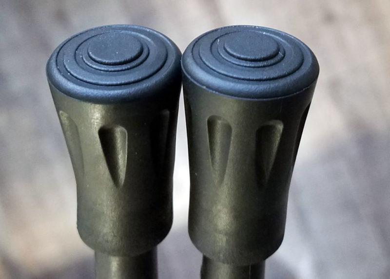 トレッキングポールの丸型ゴム