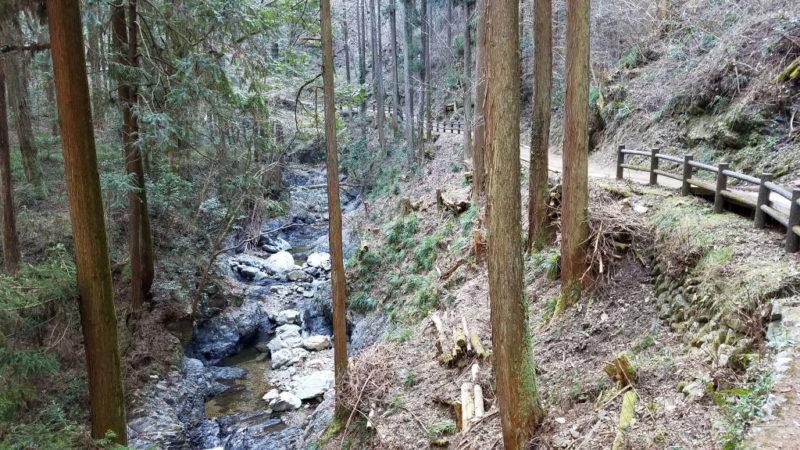 払沢の滝にいたる遊歩道