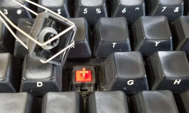 通常の赤軸スイッチ